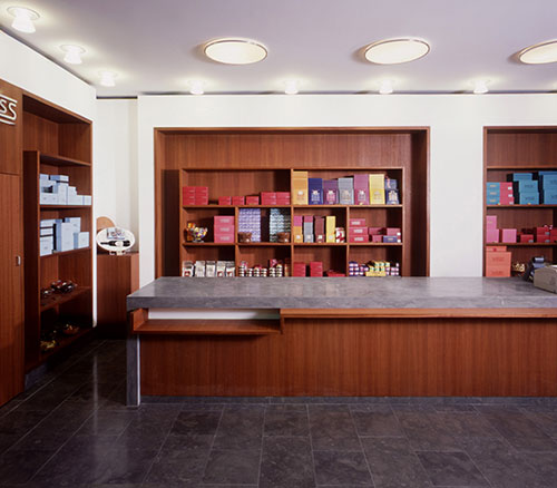 architecture frank rambert : Magasin pour le chocolatier Weiss